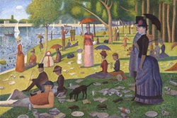 Parody of Georges Seurat's 'A Sunday on La Grande Jatte' with lots of added rubbish