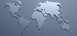 Close up of world map