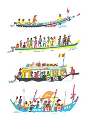 Boats from various parts of world