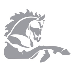 Horse icon on white background