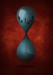 Time running out for people inside of hourglass
