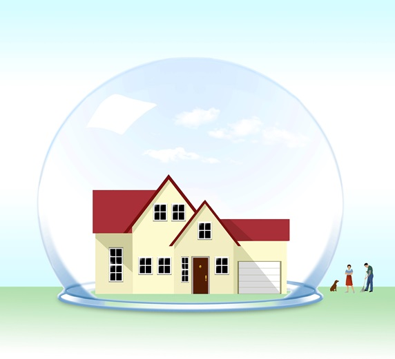 House in glass ball