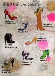 Various high-heel shoes