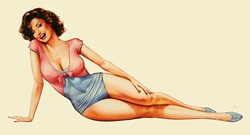 Retro vintage pin-up girl