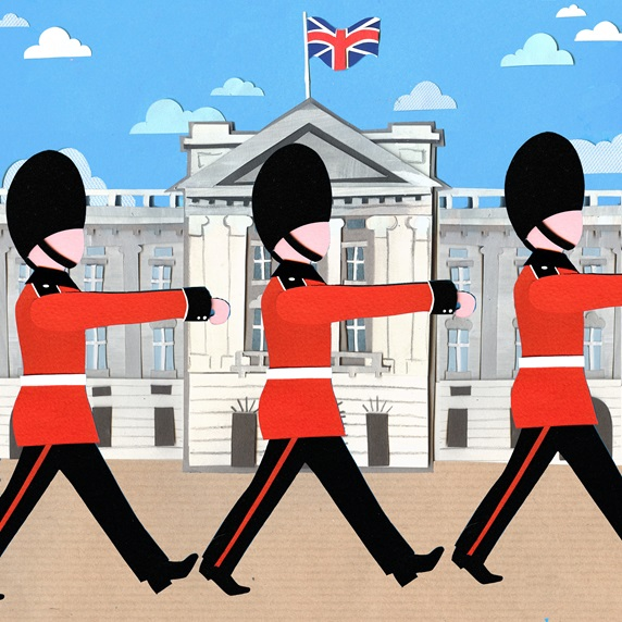British Royal Guard marching