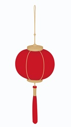 Chinese lantern on white background