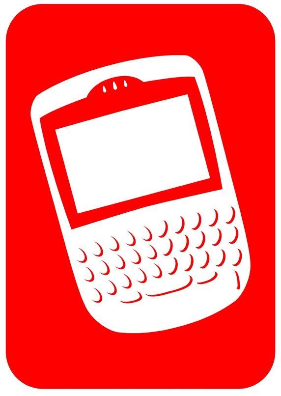 Cell phone in red