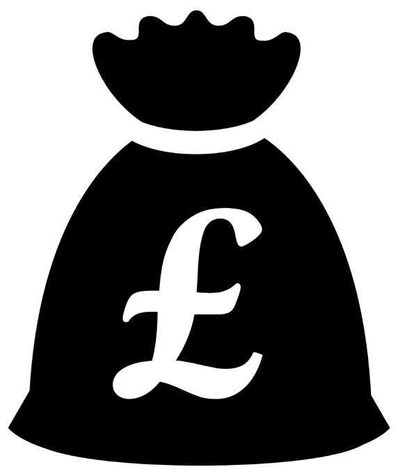 Money Bag With Pound Symbol Stock Images