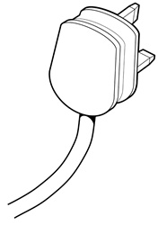 Plug with cable on white background